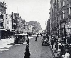 Bourke Street looking west from Swanston Street towards Elizabeth Street, Source: Pictures Collection, State Library of Shows Coles Book Arcade. Melbourne Museum, Melbourne Suburbs, Melbourne Street, Melbourne Tram, Melbourne Victoria, Victoria Australia, World Images, Melbourne Australia, Landscape Photos