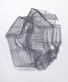 "Johanna Calle, a Colombian artist is strongly committed to the social reality of her country, Colombia. ""Endemia y Perspectiva"" its a Colombian Art, Abstract Sculpture, Line Art, Sculptures, Zurich, Drawings, Inspiration, Grid, Weaving"