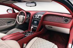Kamień w aranżacji Bentleya. Kamienne inkrustracje wykonywane są z czterech rodzajów kamienia: Autumn White, Galaxy,Terra Red i Cooper.