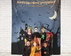 The Haunted House Halloween Party decor! This custom backdrop is perfect for your halloween party! Halloween Signs, Halloween Party Decor, Spooky Halloween, Wedding Guest Book, Photo Booth, Backdrops, Bridal Shower, Etsy Seller, Wedding Decorations