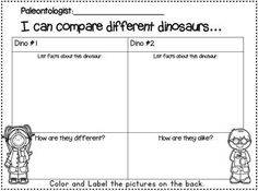 """Dinosaurs """"Research"""" Writing Mini Unit for Research Writing, Research Skills, Student Teaching, Teaching Tools, Teaching Ideas, Dinosaurs Preschool, Dinosaur Fossils, Unit Plan, Elementary Science"""