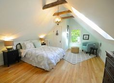 New Master in former attic space.   http://www.sopocottage.com/2013/12/1892-new-englander-before-and-after.html