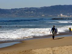 But there's not just Venice Beach, because Manhattan Beach offers amazing surfing and a super cute boardwalk to shop at. | 52 Ways Los Angeles Ruins You For Life