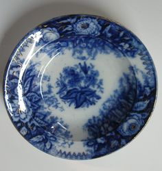 Blue & White - Flow Blue by helen Flow Blue China, Blue And White China, Love Blue, Vintage Plates, Vintage China, Vintage Dishes, Blue Dishes, White Dishes, Blue Dinnerware