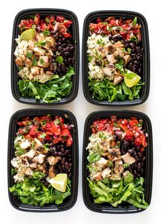 Super Easy Chicken Burrito Bowls. Made with homemade salsa, cilantro lime rice and grilled chipotle chicken. Perfect for meal prep! This Chicken Burrito Bowl is way better than Chipotle's. It is loaded with flavor and tons of fresh ingredients. It's also the perfect meal to prep for lunches! I loaded the burrito bowls up with homemade  …