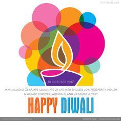 happy diwali greeting card design