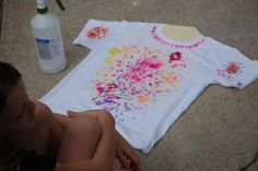 How to make sharpie tie dye t-shirts. Sharpie Canvas and Sharpie Shoe Arts. Sharpie Pillows. Learn step by step method on each sharpie craft.