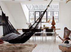 Rede de descanso na sala