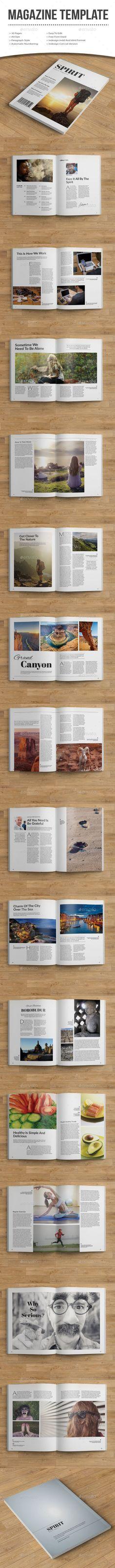 Spirit Magazine Template #design #journal Download: http://graphicriver.net/item/spirit-magazine/10731004?ref=ksioks