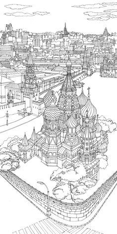 Abigail Daker, Cityscapes - Moscow and Geneva