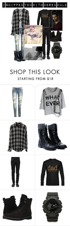 """""""I shipped you with Derek Hale"""" by moon-and-back-babe123 ❤ liked on Polyvore featuring Wet Seal, Rails, County Of Milan, Timberland and G-Shock"""