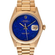 1STDIBS.COM Jewelry & Watches - ROLEX - ROLEX Extra-Fine Lapis Lazuli... ❤ liked on Polyvore