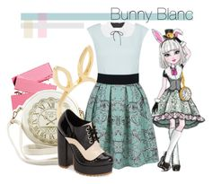 """""""bunny blanc"""" by luiglesias ❤ liked on Polyvore featuring Jacquie Aiche, Closet, Oscar de la Renta and Jeffrey Campbell"""