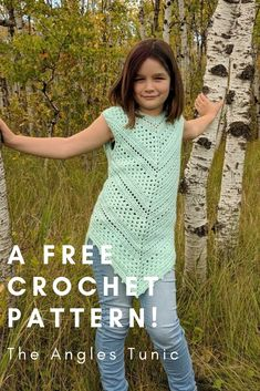 The Angles Tunic (Child/Youth Sizes) - Free Crochet Pattern · I Need It Crochet Designs Crochet Tunic Pattern, Skirt Pattern Free, Crochet Patterns, Skirt Patterns, Coat Patterns, Blouse Patterns, Free Pattern, Crochet Toddler, Crochet For Boys