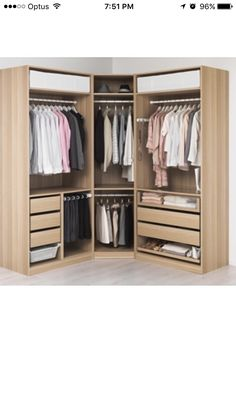 IKEA US - Furniture and Home Furnishings - PAX Wardrobe, white stained oak effect, Tanem white cm standard hinges La mejor image - Bedroom Closet Design, Wardrobe Design, Closet Designs, Home Decor Bedroom, Bedroom Furniture, Bedroom Ideas, Ikea Pax Wardrobe, Walk In Wardrobe, Bedroom Wardrobe