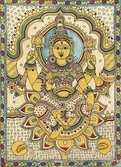 Indian Traditional Paintings, Indian Art Paintings, Traditional Art, Kalamkari Painting, Madhubani Painting, Krishna Art, Krishna Images, Lord Krishna, Kalamkari Designs