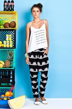 Lime Baggy Pant by Chip Chop Tracksuit Pants, Hot Mess, Palm Trees, Cami, Capri Pants, Chips, Coconuts, Stylish, Boys