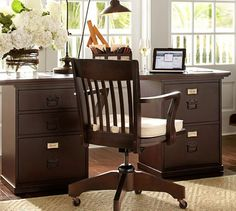 bedford rectangular desk set pottery barn bennington ethan allen desk