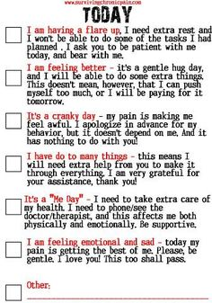 How to tell your Friends and Family What Kind of Day It Is? Living with Chronic Pain