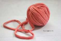 Repeat Crafter Me: How to make T-shirt Yarn