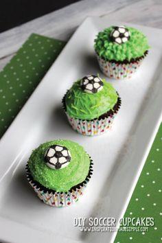 DIY Soccer Cupcakes