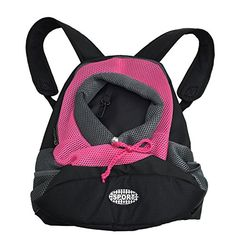 Pet Cuisine Dog Carrier Front Pack Backpack Nylon Mesh Hands Free Soft Sided Head Out Shoulder Travel Bag Hands Free for for Small Dogs -- Find out more about the great product at the image link.