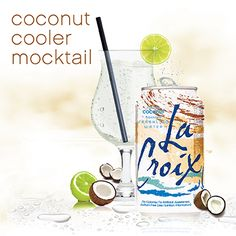La Croix sparkling coconut with a spalsh of lime ** of course I add vodka **