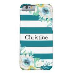 #bridesmaid - #Pretty Floral Watercolor Stylish Teal Case-Mate