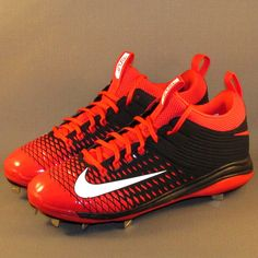 Nike Lunar Trout 2 Pro Baseball Cleats Size 11 Red/Black