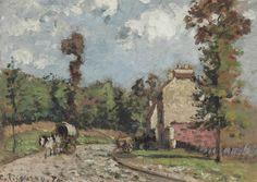 Camille Pissarro (1830-1903) La route de Versailles, Marly-le-Roi, 1870