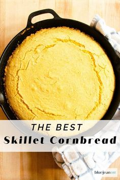 The smell of Homemade Cornbread baking in your oven is like a dinner bell for all your guests. This Southern style recipe bakes in a hot cast iron pan, giving the cornbread crispy edges and a moist interior. Made with buttermilk and just a touch of sweet, it is the perfect accompaniment to so many meals. #bluejeanchef #scratchbaking Cooking 101, Cast Iron Cooking, Best Skillet, Blue Jean Chef, Skillet Cornbread, Homemade Cornbread, Buttermilk Fried Chicken, Yummy Food, Delicious Meals