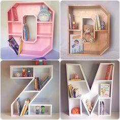 A-Z Letter Shelf by JessiesWoodworking on Etsy https://www.etsy.com/listing/230166442/a-z-letter-shelf