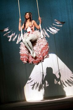 Imagini pentru Angela Carter – Nights at the Circus Natalia Tena, Angela Carter, Circus Costume, Heaven And Hell, Body Adornment, Ravenclaw, Burlesque, Book Design, Pin Up