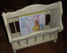 Your place to buy and sell all things handmade Wood Magazine, Magazine Rack, Behr Paint, Distressed Furniture, Cottage Chic, Toy Chest, Handmade, Stuff To Buy, Vintage
