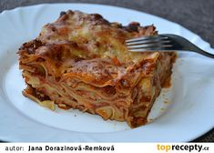 Lasagne s mletým masem bez bešamelu recept - TopRecepty.cz Musaka, Lasagna, Ethnic Recipes, Food, Essen, Meals, Yemek, Lasagne, Eten