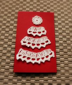 Crochet Christmas card, with instructions