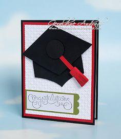 hats, graduat card, grad card, schools, punch art, graduation cards, graduat idea, graduat parti, school colors