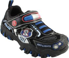 Baby Toddler Skechers Damager Police 2 Running Shoes. Functioning light bar! So cool!