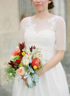 autumn bouquet, photo by Justin DeMutiis Photography http://ruffledblog.com/sorosis-building-wedding #weddingbouquet #flowers #fallwedding