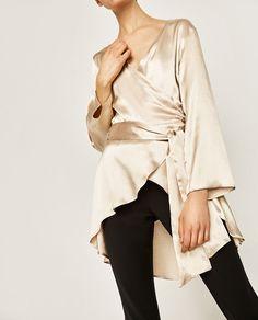 Imagem 4 de BLUSA TIPO QUIMONO da Zara