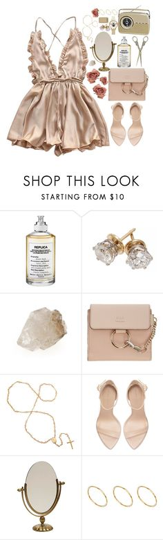 """""""Not That Innocent"""" by sparkling-oceans ❤ liked on Polyvore featuring Maison Margiela, Chloé, Zara, ASOS, Olivia Burton and vintage"""