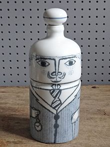 Vintage Altenstadt pottery city gent bottle