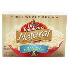 I'm learning all about Orville Redenbacher's Microwave Popcorn Natural Simply Salted Light at @Influenster!