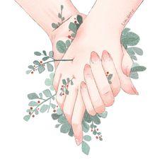 너와 맞닿는 순간 꽃이 피어났어.