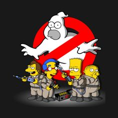 Simpsons T-Shirt by NemiMakeit aka NoemiFadda. HOMERBUSTERS is a Simpsons and Ghostbusters mashup t-shirt featuring Homer Simpson as a ghost. Cartoon Kunst, Dope Cartoon Art, Homer Simpson, The Simpsons, Die Geisterjäger, Simpsons Drawings, Simpson Wallpaper Iphone, Dope Cartoons, Ghost Busters