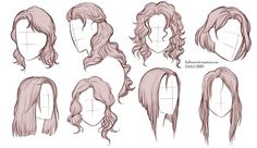 Hairstyles by https://www.deviantart.com/sellenin on @DeviantArt