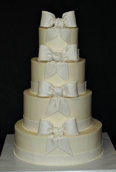 Bow Wedding Cake by cjmjcrlm (Rebecca), via Flickr