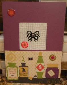 Handcrafted SCRAPBOOK Style Cross Stitch by CraftyCrossStitches, $6.99