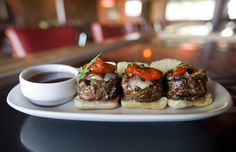 Kobe sliders cooked to perfection
