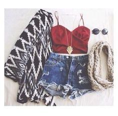 ♡ Clothes Casual Outfit ideas Love it ♡ ✔ Mode Outfits, Outfits For Teens, Casual Outfits, Fashion Outfits, Fashion Trends, Fasion, Summer Outfits For Teen Girls Hipster, Fashion Clothes, Hipster School Outfits